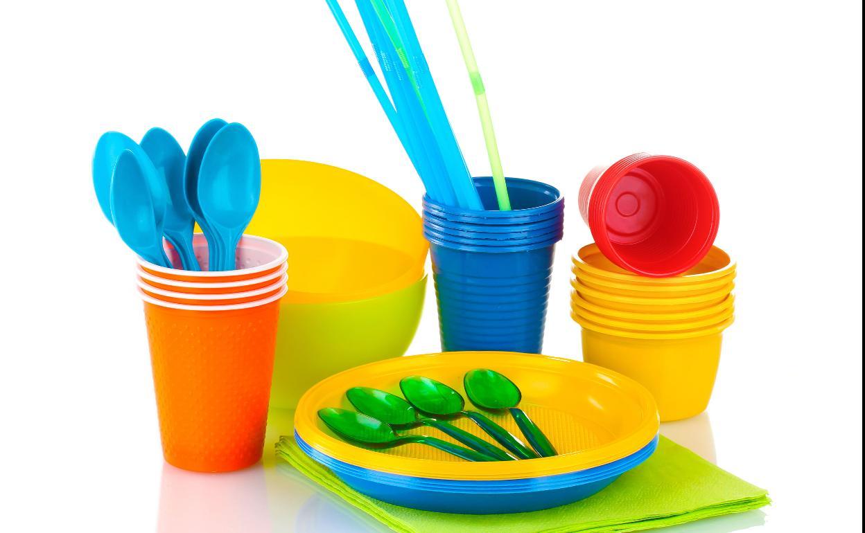 Envases de plástico un solo uso